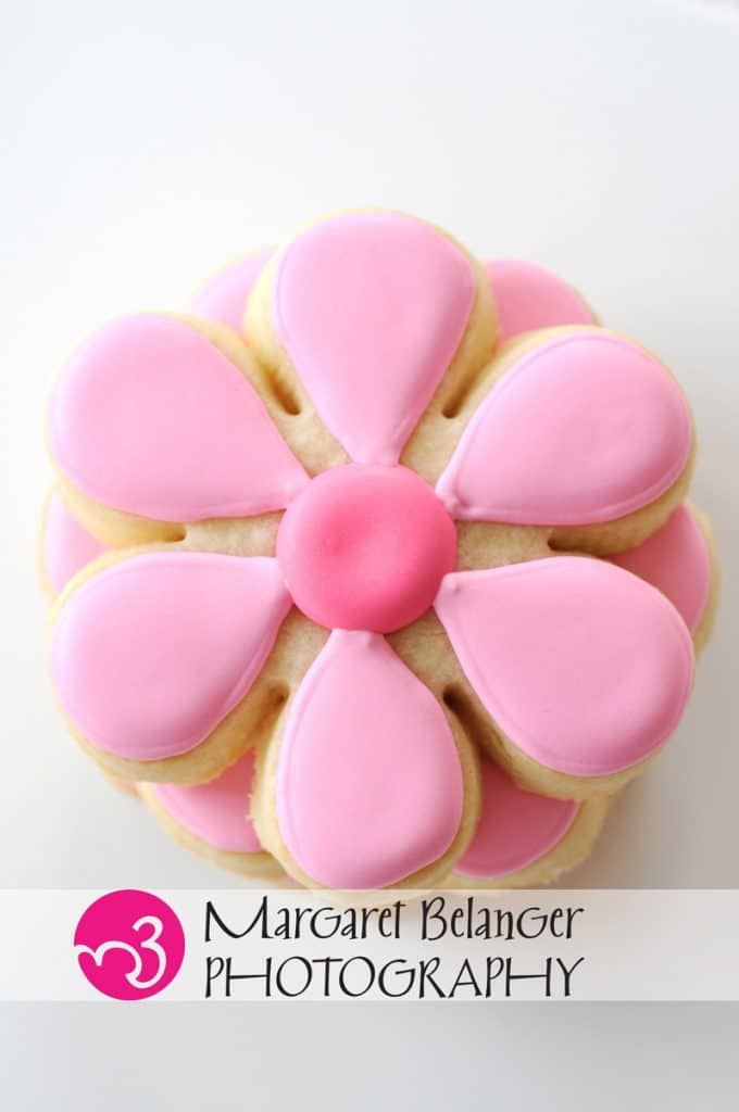 Pink flower cookies from Iced, A Cookie Company, Boston