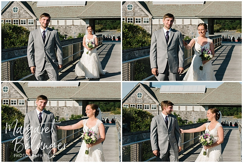 Bride and Groom's First Look at Horseneck Beach
