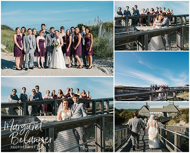 Portraits of the wedding party at Horseneck Beach State Reservation