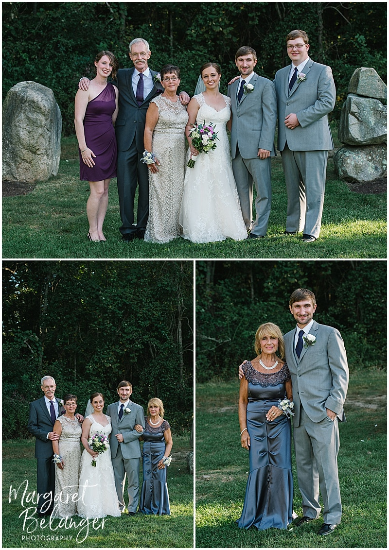 Family portraits at a Bittersweet Farm wedding