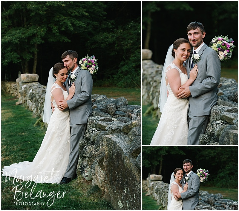 Bride and groom portraits at Bittersweet Farm in Westport, MA