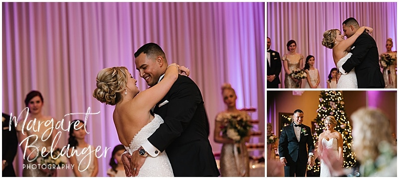 Bride and groom's first dance at their Castleton wedding reception, Windham, NH