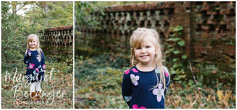 Bradley Estate fall family session, Canton, little girl