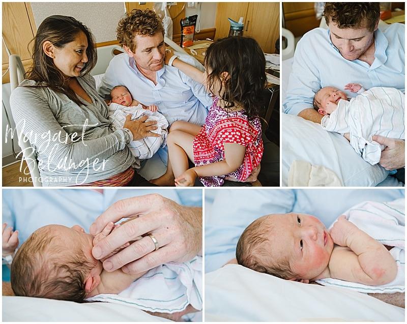 Brigham and Women's Hospital Fresh 48 newborn session