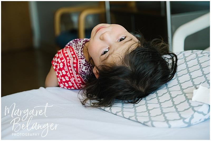 Brigham and Women's Hospital Fresh 48 newborn session - big sister
