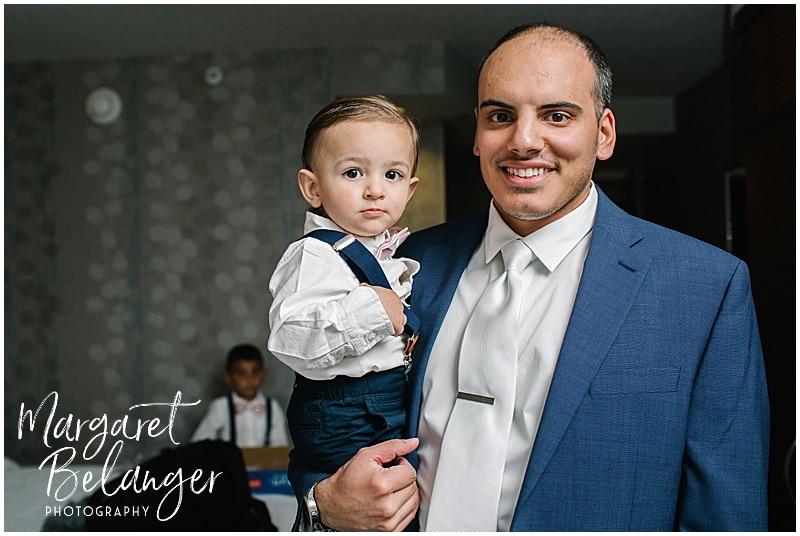 Rhode Island groom getting ready with nephew