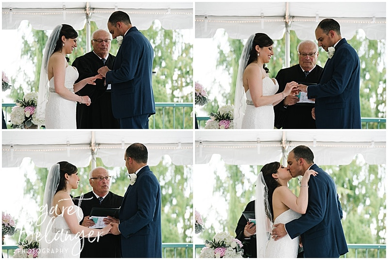 Kirkbrae Country Club outdoor wedding ceremony
