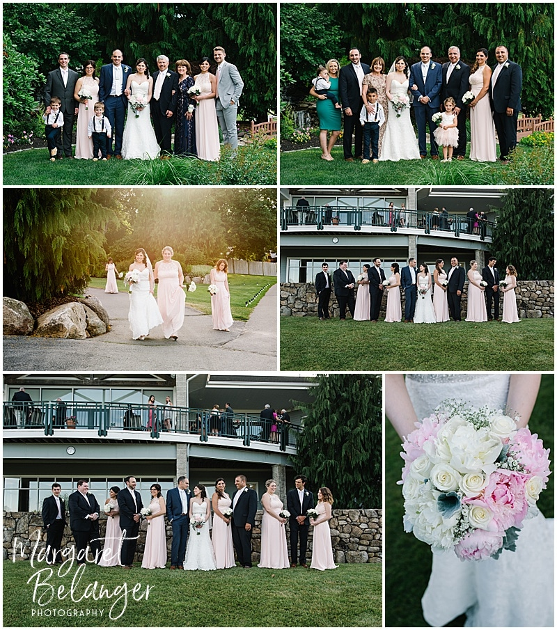 Kirkbrae Country Club wedding party portraits