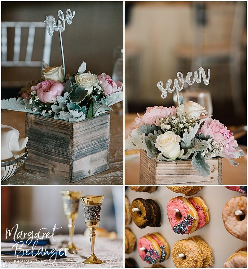 Kirkbrae Country Club wedding reception ballroom details