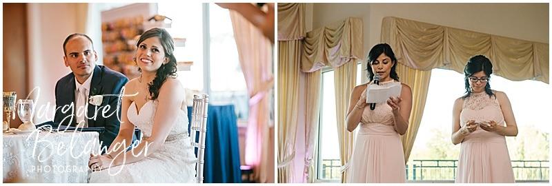 Kirkbrae Country Club wedding reception, speeches