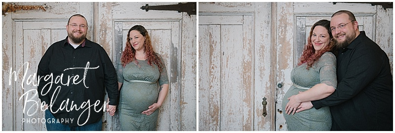Mill No. 5 Lowell maternity session, parents-to-be