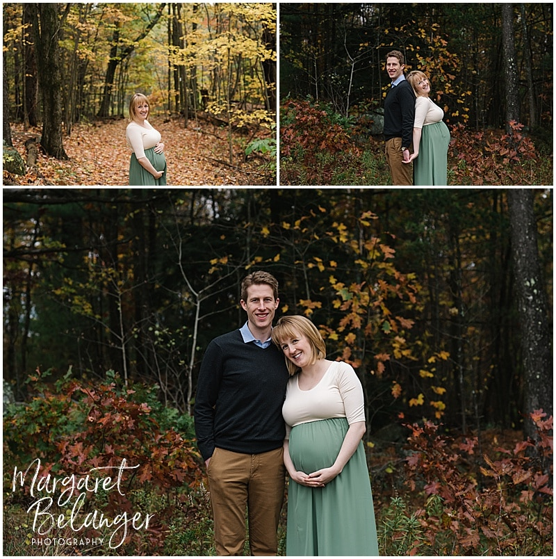 New Hampshire apple orchard maternity session