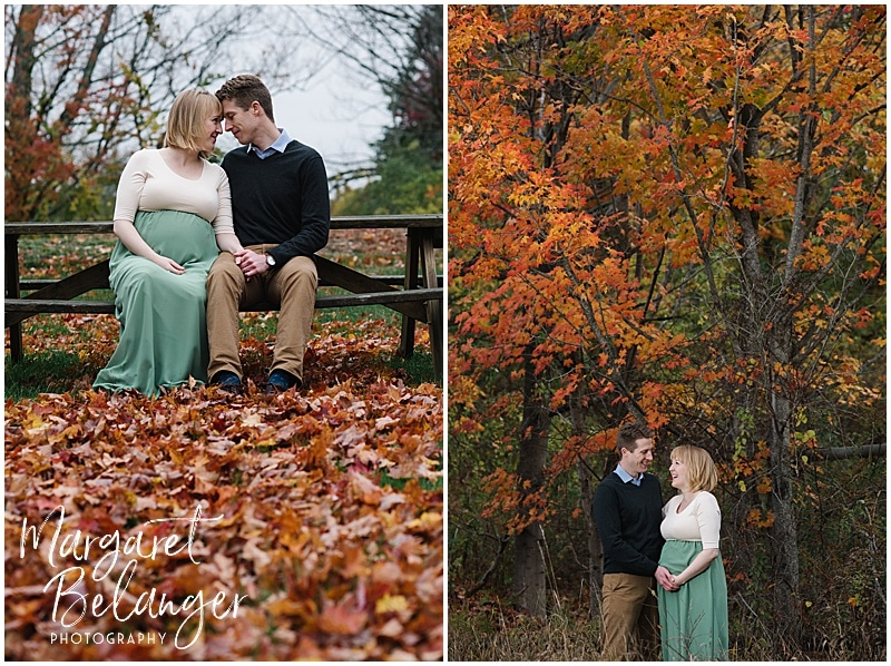 New Hampshire apple orchard autumn maternity session