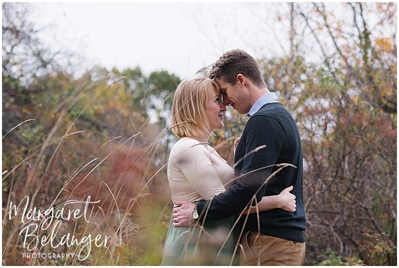 New Hampshire apple orchard autumn maternity session, tall grass