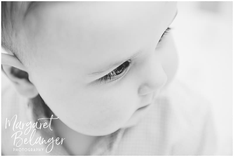 Baby's eyelashes, Rhode Island family session