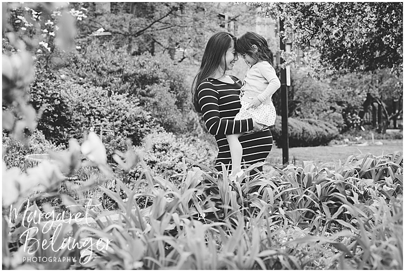 South End maternity session, mama-to-be and daughter