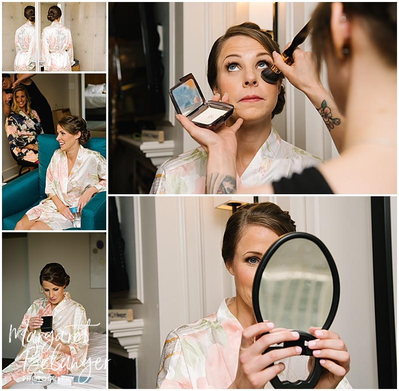 Newport bride getting ready