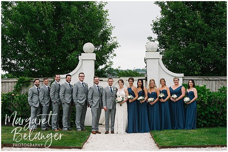 Belle Mer Newport wedding, wedding party portraits