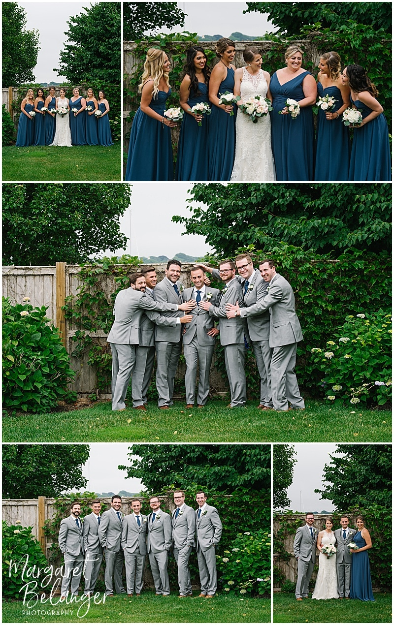 Belle Mer Newport wedding, wedding party portraits