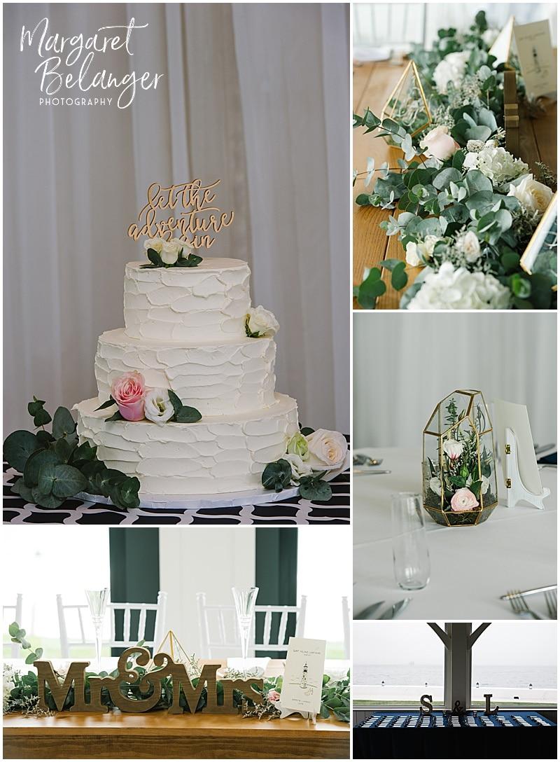 Belle Mer Newport wedding, reception details