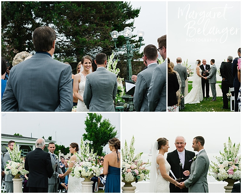 Belle Mer Newport wedding ceremony