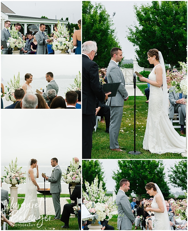 Belle Mer Newport wedding ceremony, vows