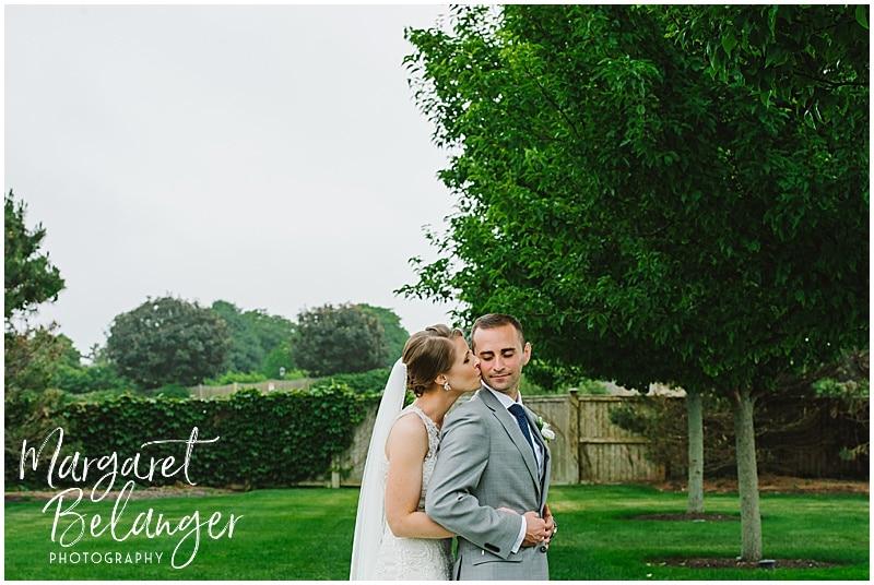 Belle Mer Newport wedding, bride and groom portraits