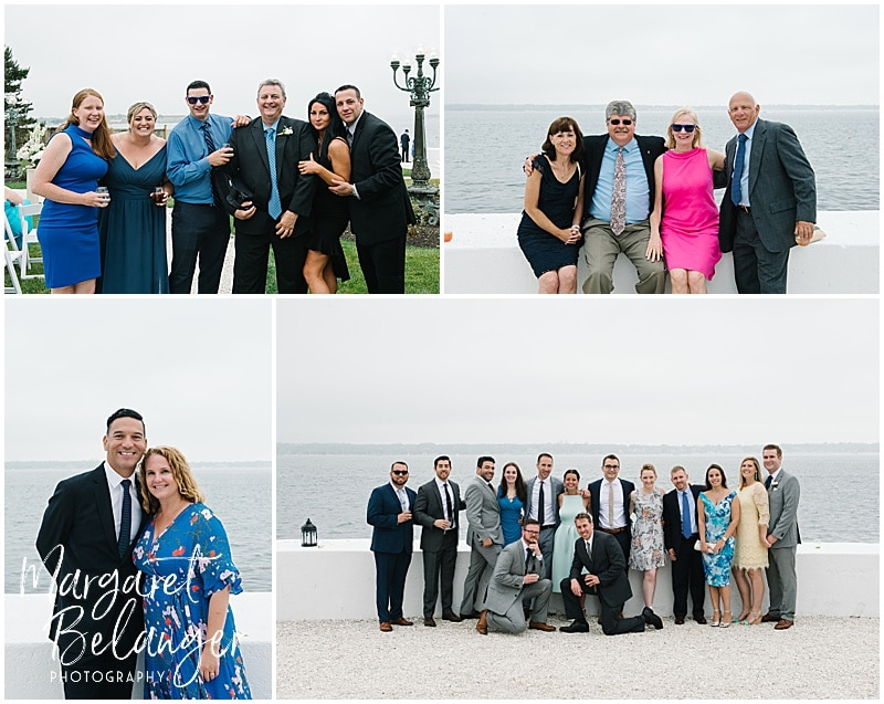 Belle Mer Newport wedding, guest portraits