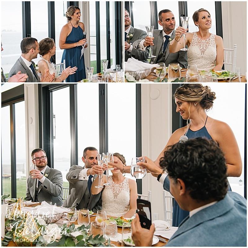 Belle Mer Newport wedding, maid of honor's speech