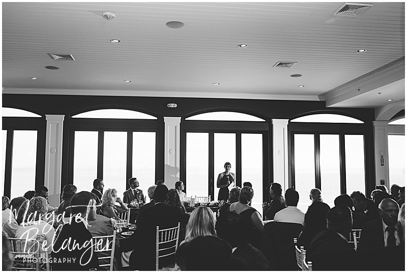 Belle Mer Newport wedding, maid of honor's speech