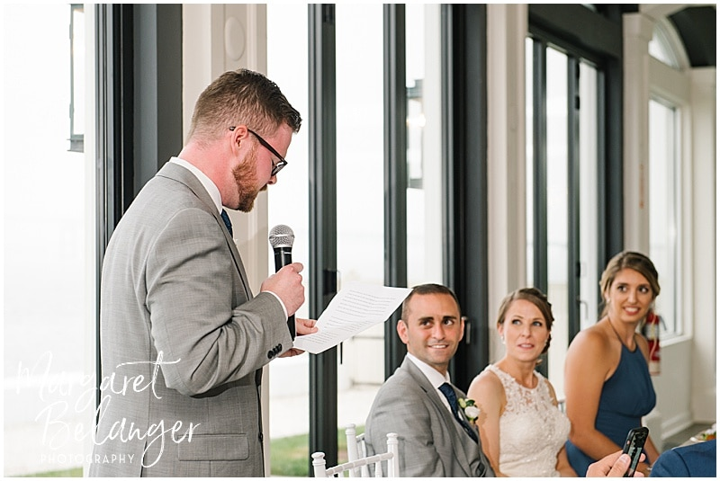 Belle Mer Newport wedding, best man's speech