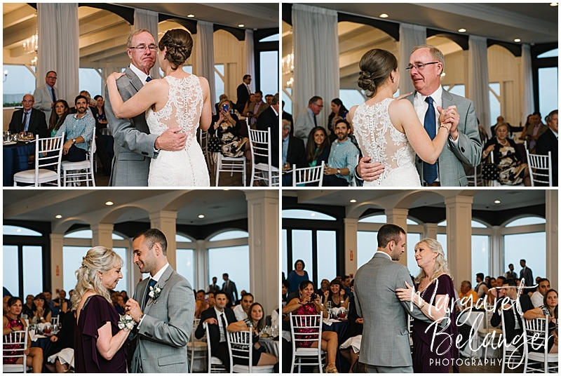 Belle Mer Newport wedding, parent dances