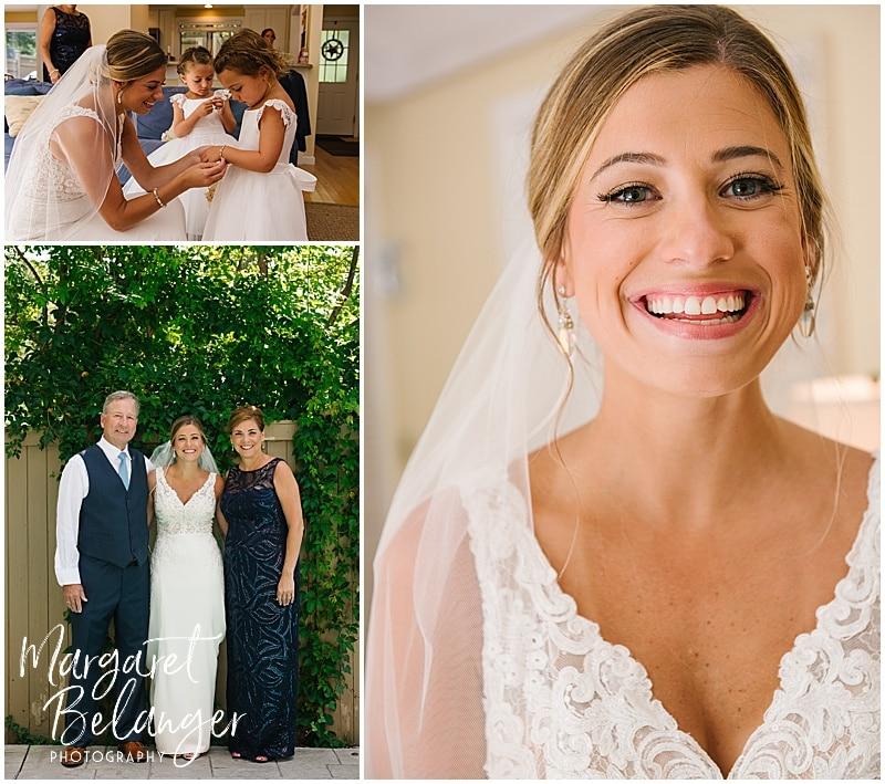 New Seabury Country Club wedding, bride getting ready