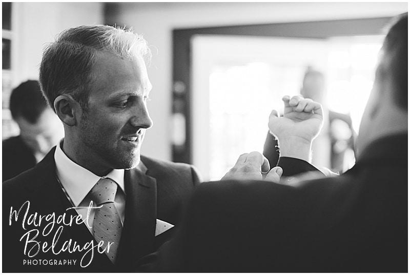 New Seabury Country Club wedding, groom getting ready
