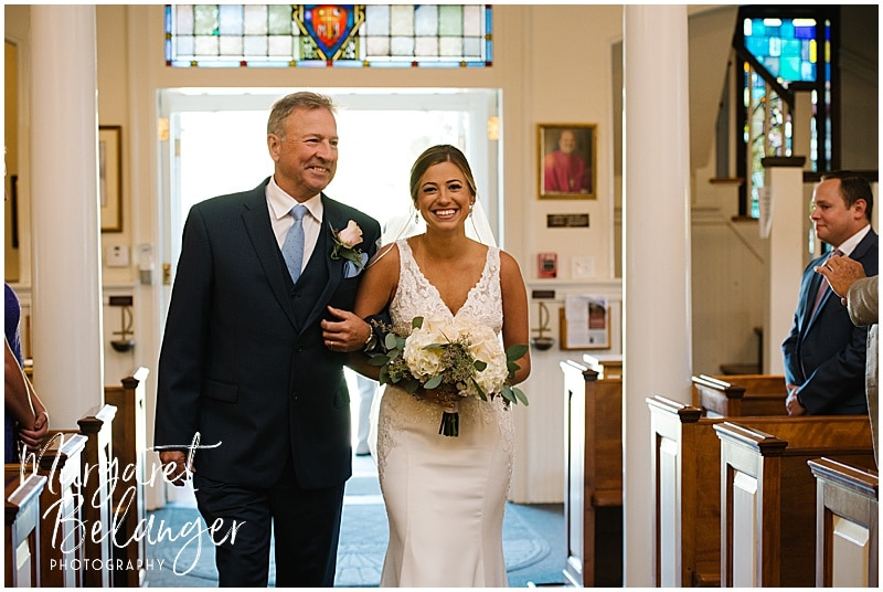 New Seabury Country Club wedding, father of bride walking bride down the aisle