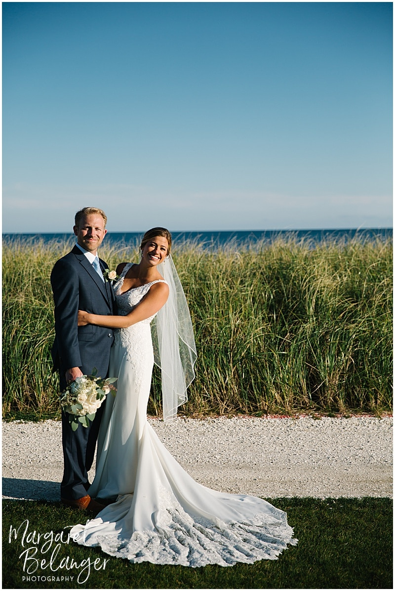 New Seabury Country Club wedding, portraits of bride and groom at country club