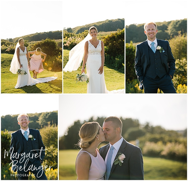 New Seabury Country Club wedding, wedding portraits on the golf course