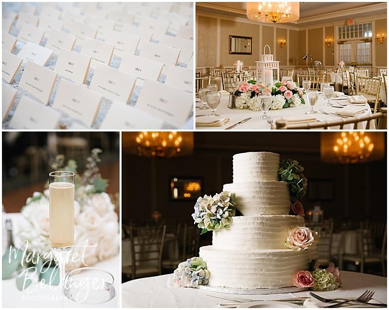 New Seabury Country Club wedding, wedding reception details