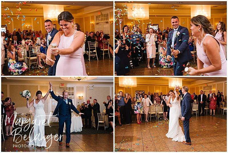 New Seabury Country Club wedding, wedding reception introductions