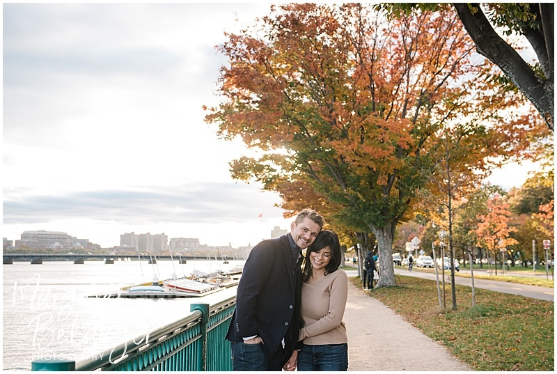 Charles River Cambridge engagement session