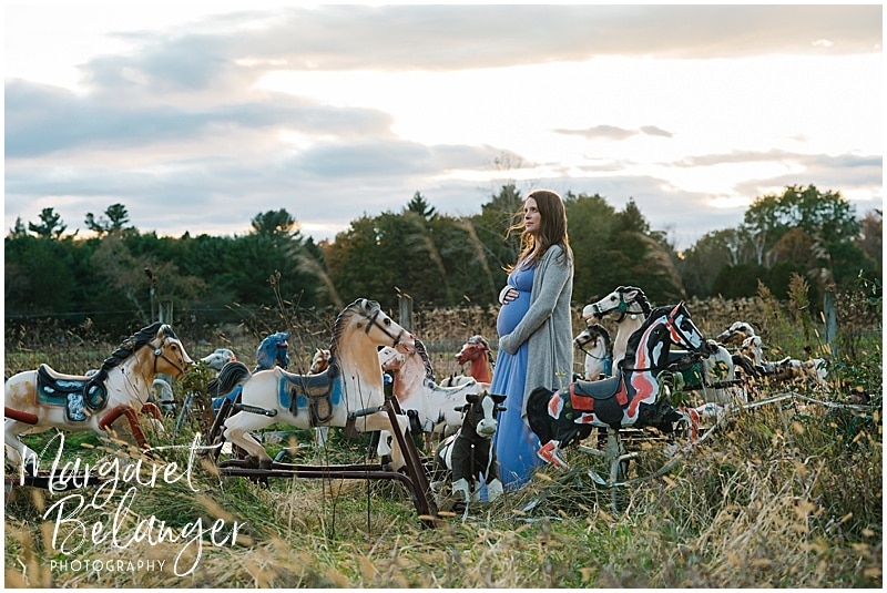 Rocking Horse Graveyard Lincoln MA maternity session