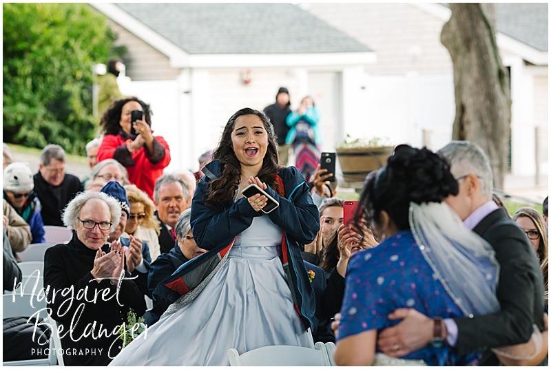 Thompson Island Boston Harbor same sex wedding, wedding ceremony