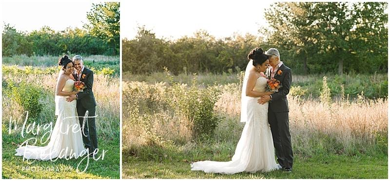 Thompson Island Boston Harbor same sex wedding, portrait of brides
