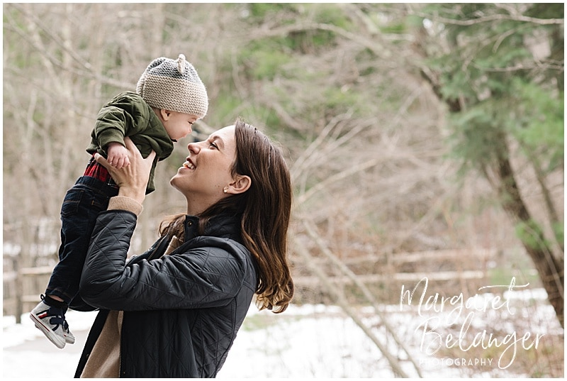 Minute Man National Park Lexington family session, mom and baby