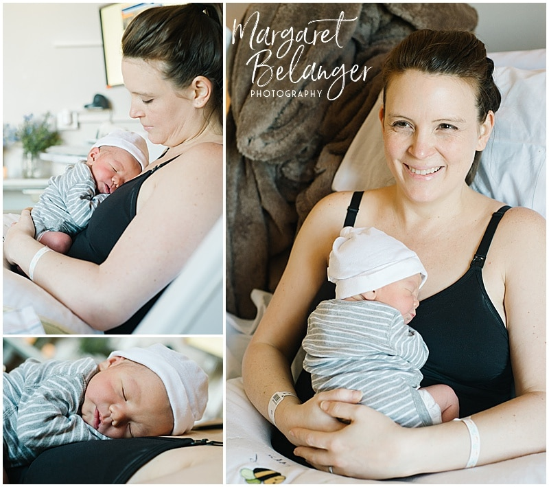 Brigham and Women's Fresh 48 session, mom and newborn baby
