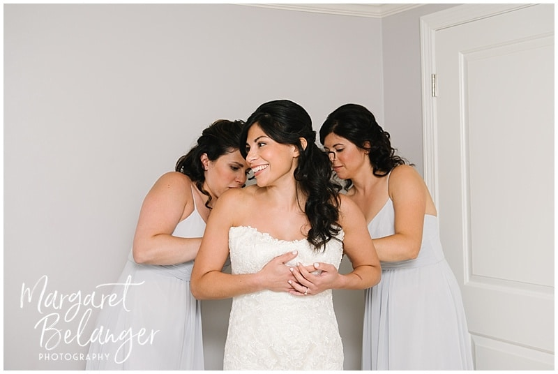 Wychmere Beach Club Cape Cod Wedding, bride with bridesmaids