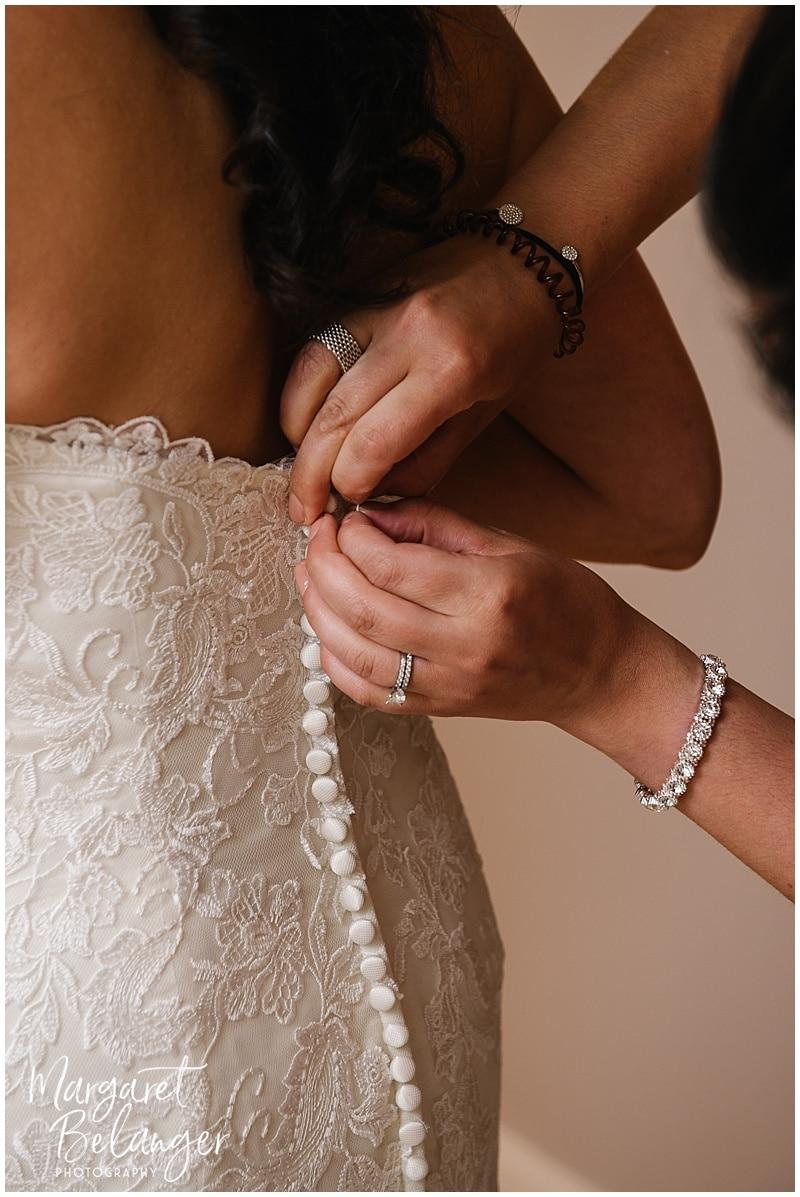 Wychmere Beach Club Cape Cod Wedding, dress details