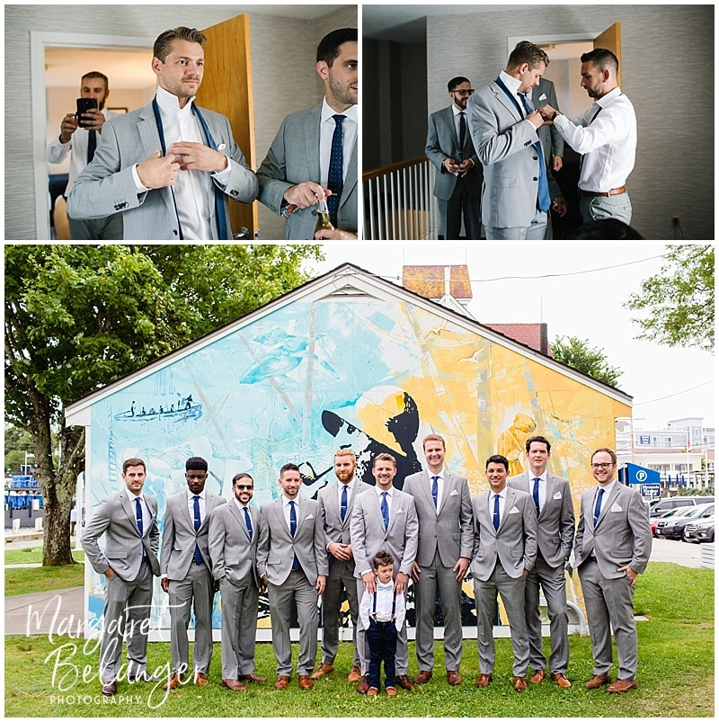 Wychmere Beach Club Cape Cod Wedding, groom getting ready
