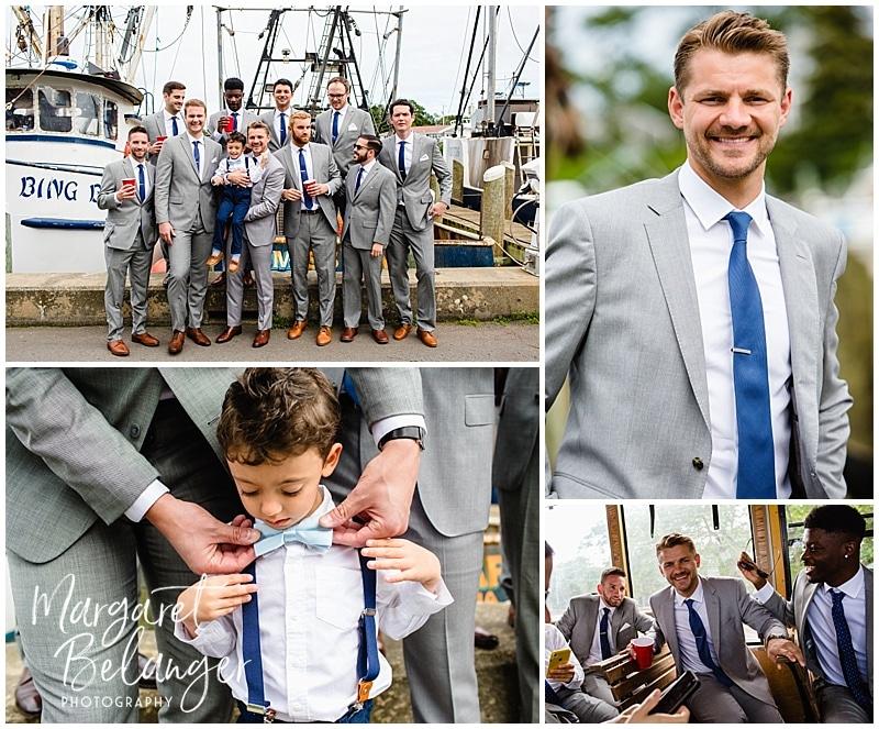 Wychmere Beach Club Cape Cod Wedding, groomsmen portraits