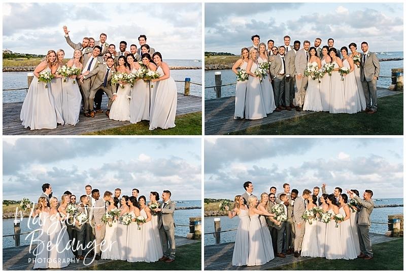 Wychmere Beach Club Cape Cod Wedding, wedding party portraits
